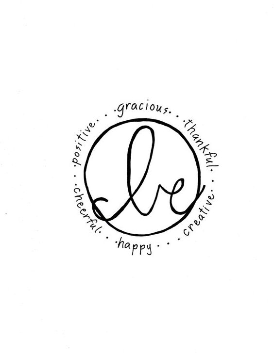 Be...Gracious, Thankful, Creative, Happy, Cheerful, Positive, Black and White Graphic Print, Inspiration Quote, Wall Decor, Typography print