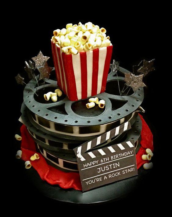Movie Theater Birthday party. Cool cake @amyjanethogan
