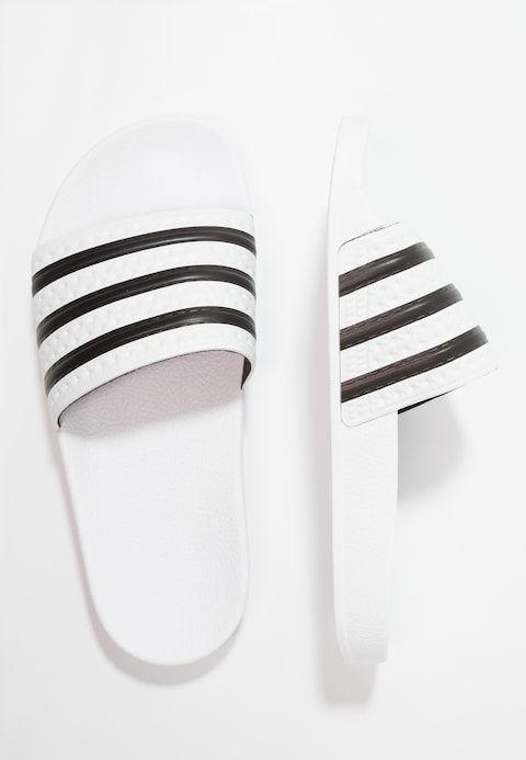 ADILETTE - Badslippers - white/black @ Zalando.be ...