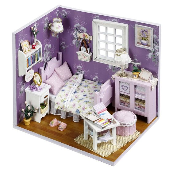 details about new dollhouse miniature diy kit with cover wood toy dolls house gift sweet sun aliexpresscom buy 112 diy miniature doll house