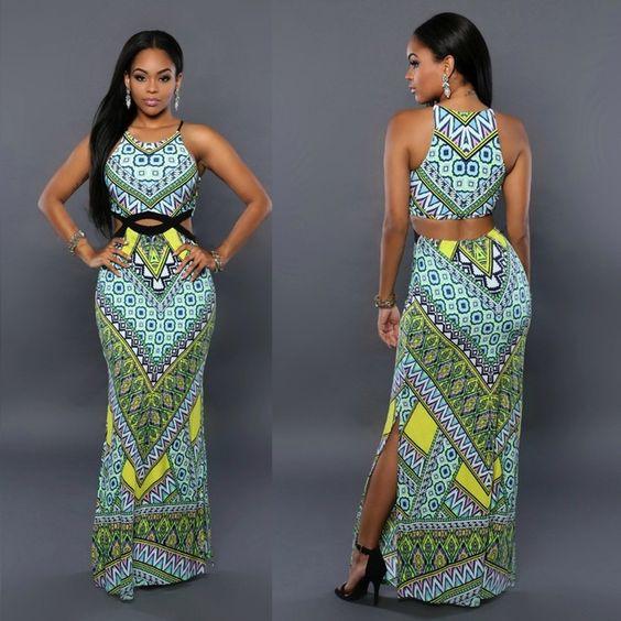 Frete grátis nova moda africano tradicional de impressão roupas vestido Dashiki africano                                                                                                                                                      Mais