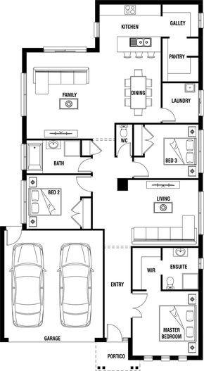 Midland Home Design 3 Bedroom House Plan Porter Davis House Plans Farmhouse Bedroom House Plans 3 Bedroom Home Floor Plans