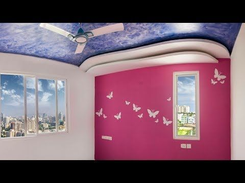 Butterfly Stencil Wall Painting Design Aapkapainter Youtube Wall Paint Designs Textured Wall Paint Designs Wall Painting