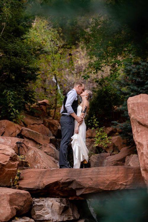 Louland Falls Salt Lake City Utah Outdoor Wedding In 2020 Outdoor Wedding Salt Lake City Utah Wedding First Look