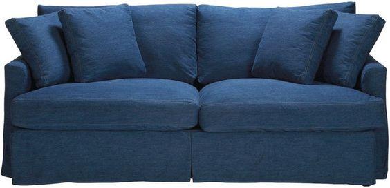 Ethan Allen Marley Slipcovered Sofa on shopstyle.com