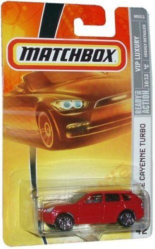 Matchbox Porsche Cayenne Turbo Highly Detailed Red #42 2007 1/64 by Mattel. $17.77. Matchbox Porsche Cayenne Turbo Highly Detailed Red #42 2007 1/64 Factory Sealed.