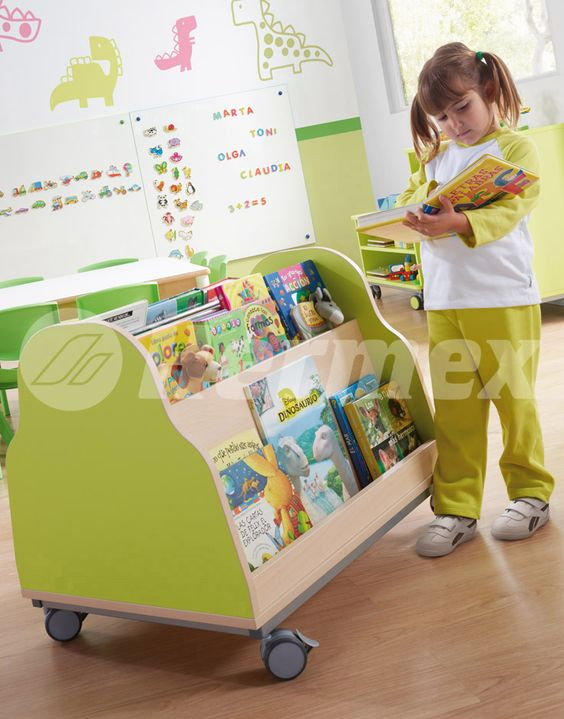 Mueble expositor de libros para bibliotecas infantiles for Muebles para libros