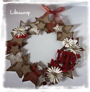 Couronne de Noël récup: tuto - Liliescrap