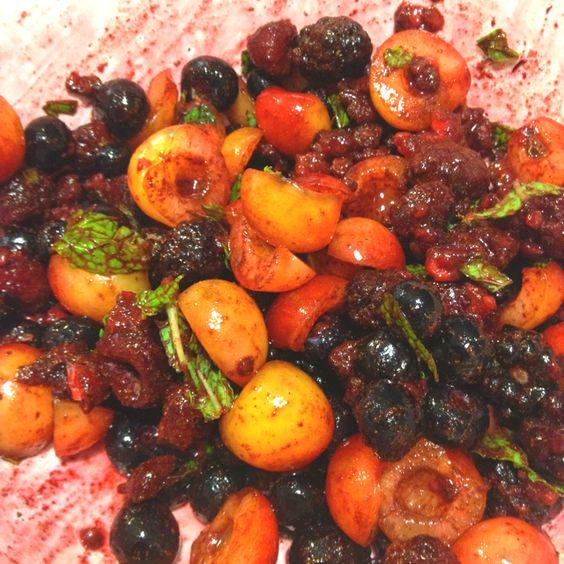 Cherry berry medley, yum!