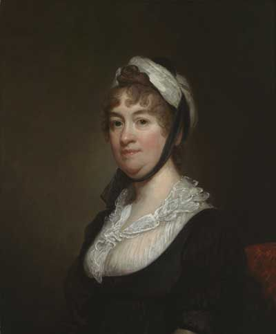 Gilbert Stuart, Elizabeth Bowdoin, Lady Temple, 1806.                                       (This painting comes with lots of info and a proper dating, follow the link for further information)