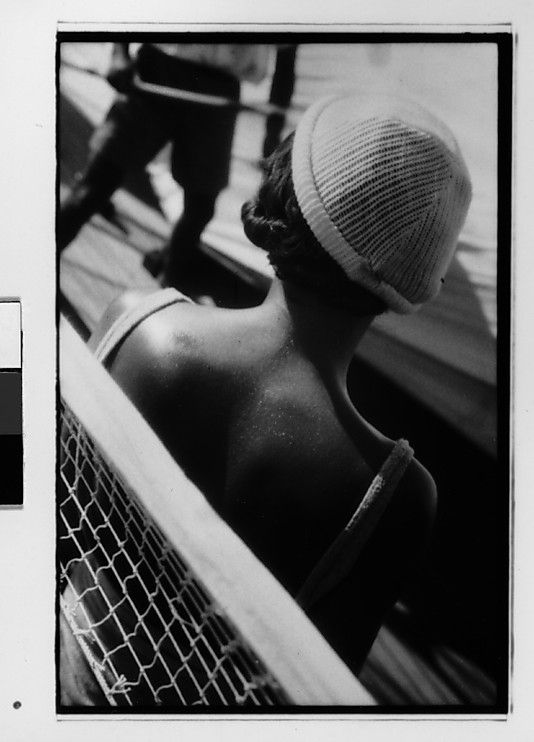 [South Seas: Isabelle Jennings Aboard the Cressida, From Behind] 1932. Walker Evans.