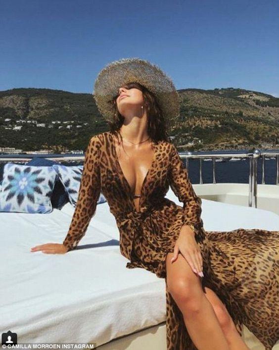 Leonardo DiCaprio's girlfriend Camila Morrone dons scarlet bikini   Daily Mail Online