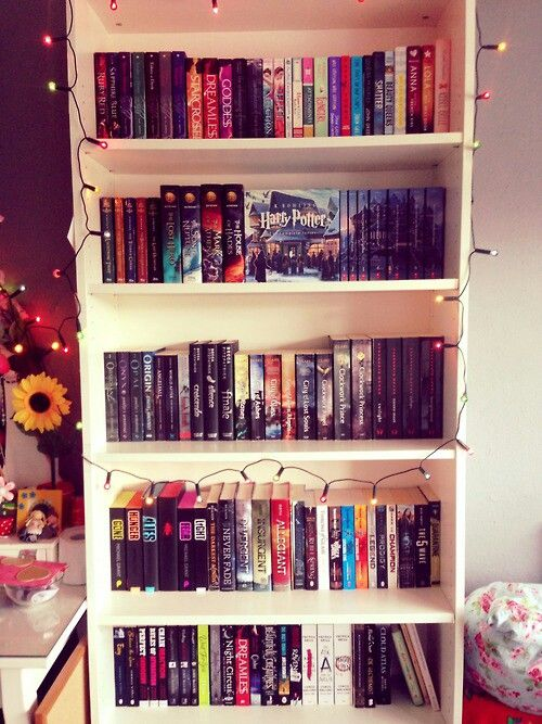 Working at a library is turning me into a bookworm.. I'm going to need a bookshelf like this pretty soon: