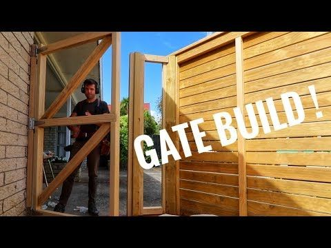 How To Build A Wooden Gate With Horizontal Slats Building A Wooden Gate Wooden Gates Wooden Garden Gate