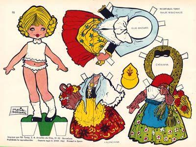 maria pascual muñeca muñeco muñecas recortables mariquitas