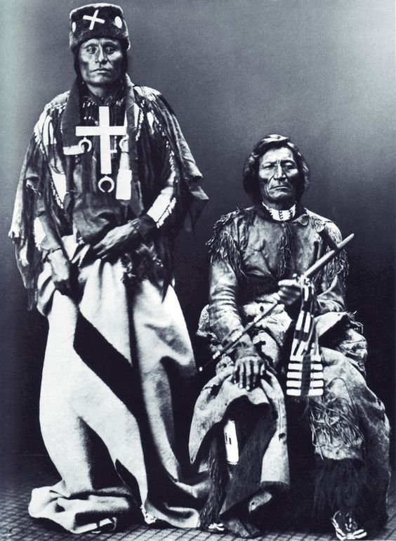 Little Wolf and Dull Knife (Northern Cheyenne) chiefs who led the so-called Cheyenne Autumn breakout from Oklahoma back to their northern ranges.
