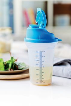 Shake it up! Our All-In-One Shaker is ideal for making, mixing, serving and storing dressings and marinades. (Tip: Seal doubles as a measuring cup with markings inside.)