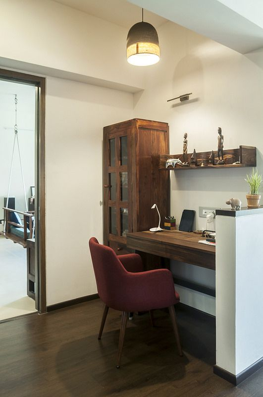 A Travel Inspired Apartment In Mumbai Dress Your Home Study Table Designs Study Room Design Modern Style Bedroom