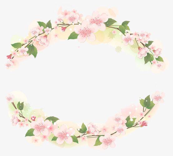 برواز وردي وردي الزهور فريم Png وملف Psd للتحميل مجانا Floral Wreath Pink Frames Floral