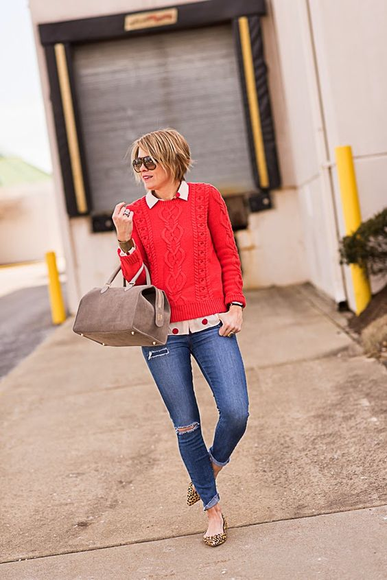 sweater (GAP ON SALE this color sold out, see similar shadeUNDER $20 HERE), blouse (LOFT ON SALE), denim (Paige ON SALE), flats (Loeffler Randall), bag (Clare Vivier, Omar + Elsie), cuff (Morton James), shades (Gucci), rings (Lagos,Anna Beck) Casual is quite the theme in my life these days. It pretty much always is but I …