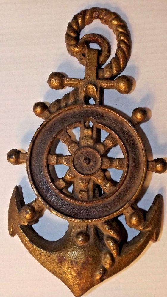 Antique Vintage Style Iron Anchor Door Knocker Antique Color Nautical Maritime