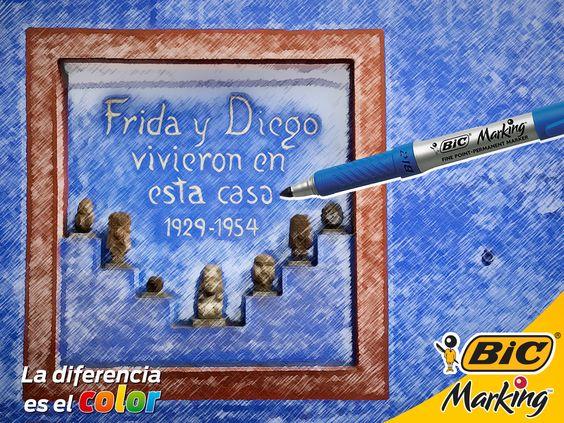 Frida y Diego vivieron en esta casa azul #LaDiferenciaEsElColor #FridaKahlo #CasaAzul #México