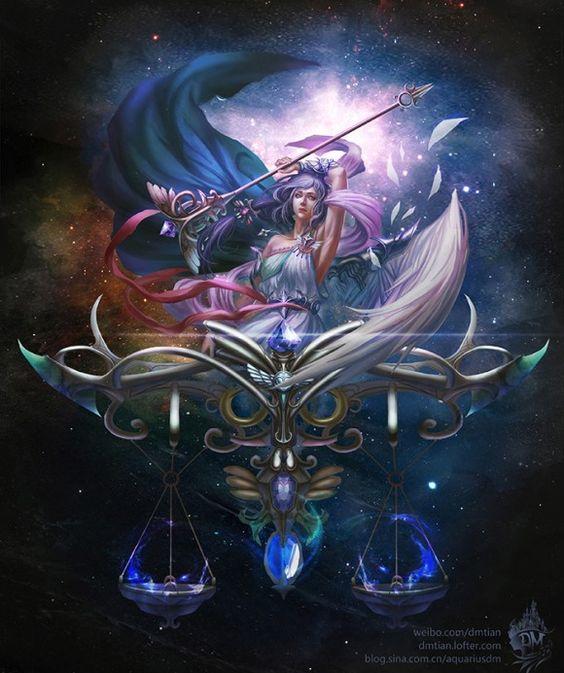 12 Zodiac Signs Illustrations - Libra