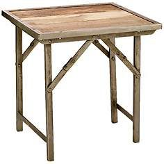 Jamie Young Campaign Folding Side Table