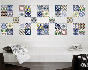 autocollants tuile stickers stickers carrelage pour cuisine ou salle de bains pack de - Stickers Tuile Vinyle Salle De Bain