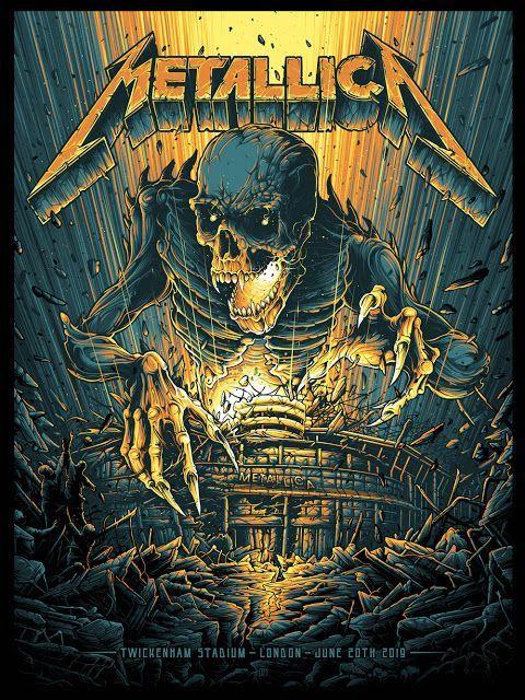The Geeky Nerfherder Coolart Metallica At Twickenham London Uk Pr Metallica Art Rock Band Posters Heavy Metal Art