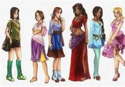 Modern Disney Princesses by CarmenFoolHeart