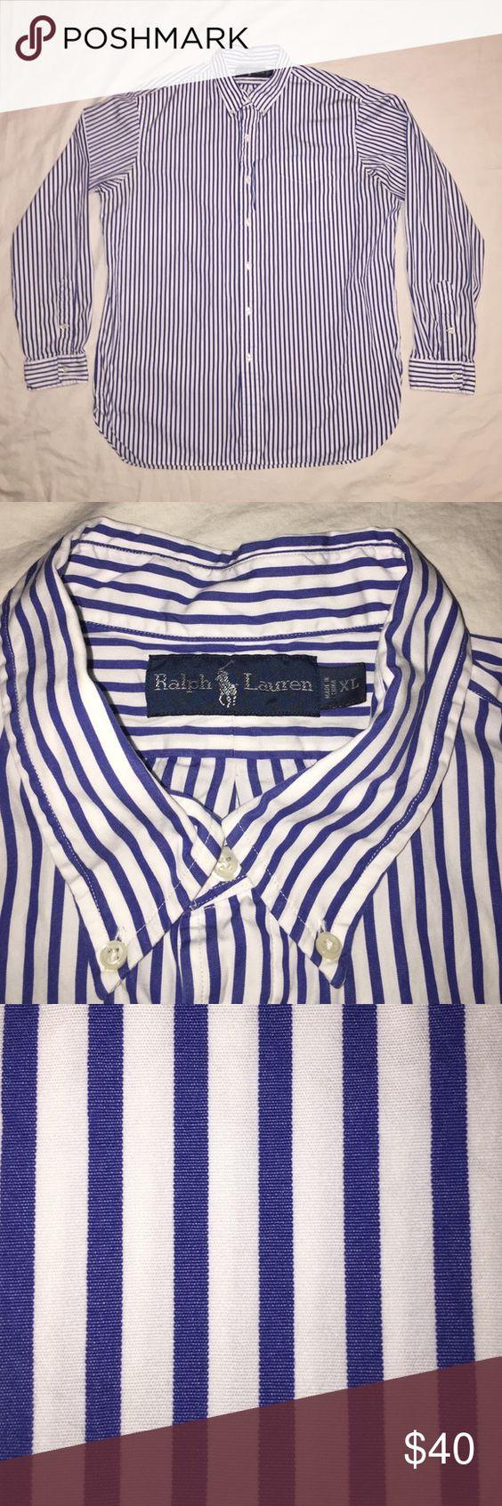 Men's Ralph Lauren button down shirt Men's Ralph Lauren button down striped shirt. Size XL Ralph Lauren Shirts Dress Shirts