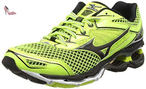 Mizuno Wave Rider 20 Jr V, Chaussures de Running Entrainement Garçon, Orange (Clownfish/Black/Silver), 28.5 EU