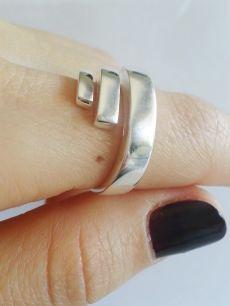 925 ayar gümüş,sarmal model taşsız bayan yüzük(TY00036)