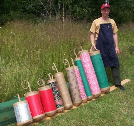 Tom Niesen and shells  DIY fireworks - wow