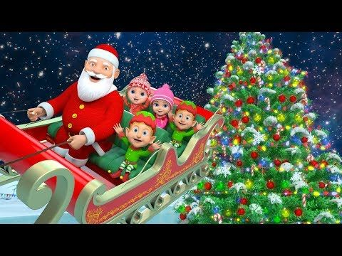 Jingle Bells Christmas Songs Nursery Rhymes Videos And Cartoons By Little Treehouse Youtube Cartoon Songs Best Christmas Songs Rhymes Video