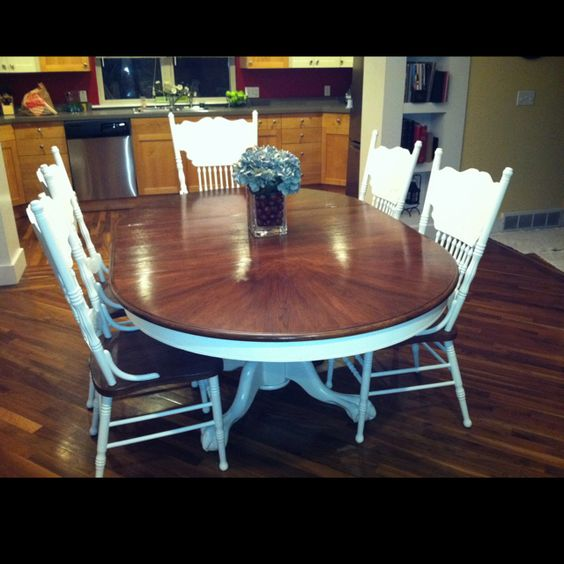 35 Best Images About Refinished Oak Tables On Pinterest: Refinished Table & Chairs.. Would Be Perfect For My