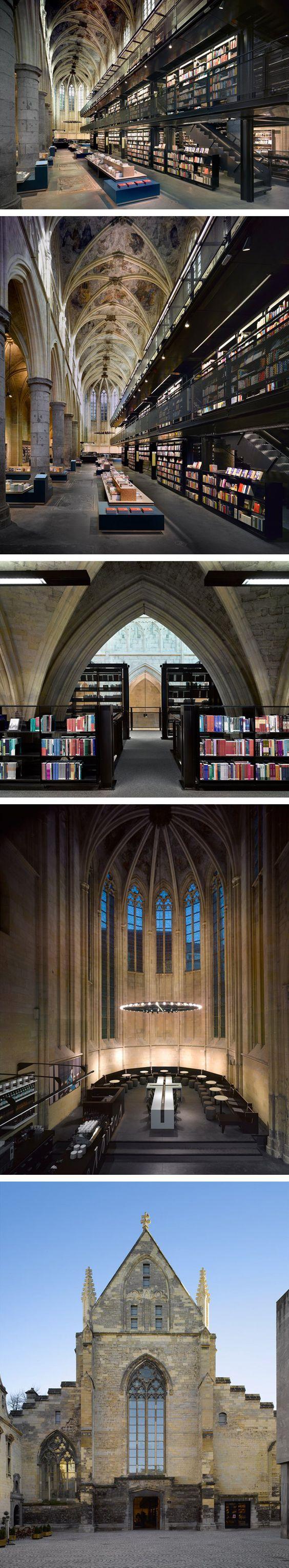 Selexyz-Dominicanen Library.   Project by Merkx+Girod architects.