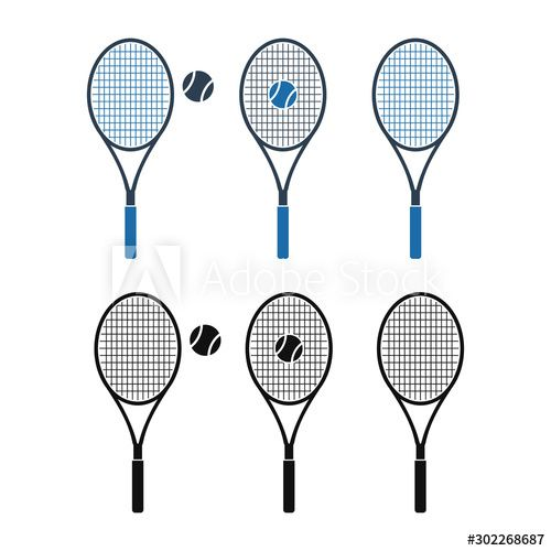 Tennis Racket And Ball Icon Set Flat Style Vector Eps Ad Ball Icon Tennis Racket Set Ad In 2020 Tennis Racket Rackets Tennis