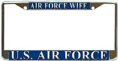 Us Air Force Wife Military Chrome Metal License Plate