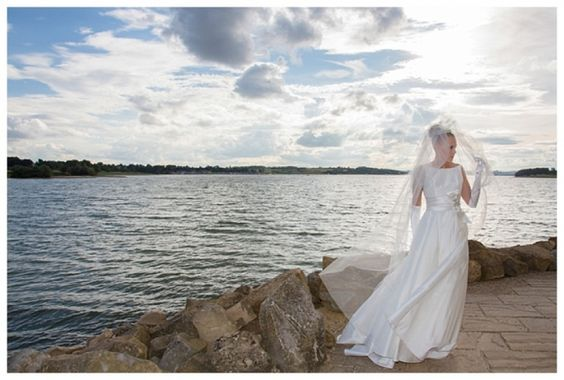 www.joannewithersphotography.co.uk Grace of Monaco Photoshoot. Wedding Photography & Dresses  https://www.gilingandwhitebridal.co.uk Rutland Water