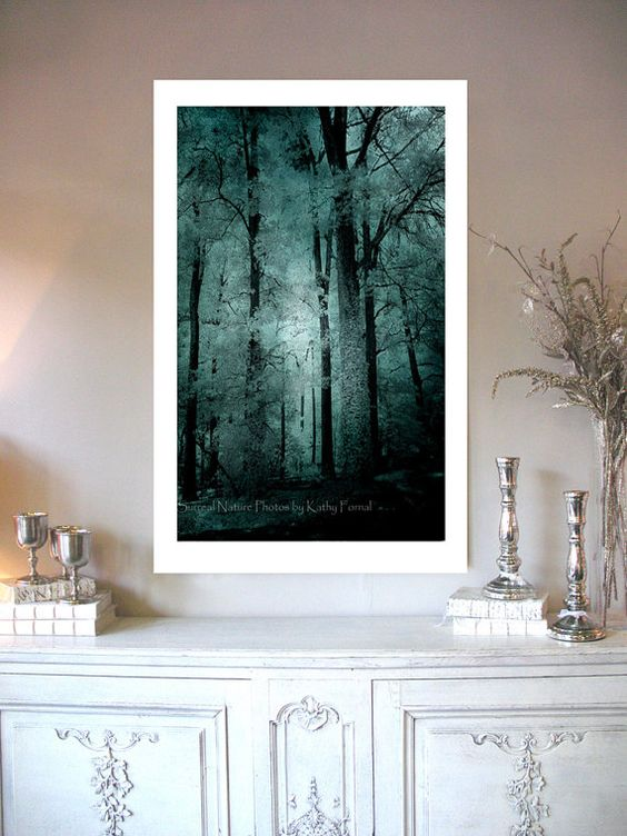 Nature Photography Dreamy Haunting Woods Forest by KathyFornal