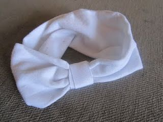 DIY baby headband from old tights.