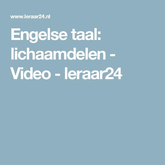 Engelse taal: lichaamdelen - Video - leraar24