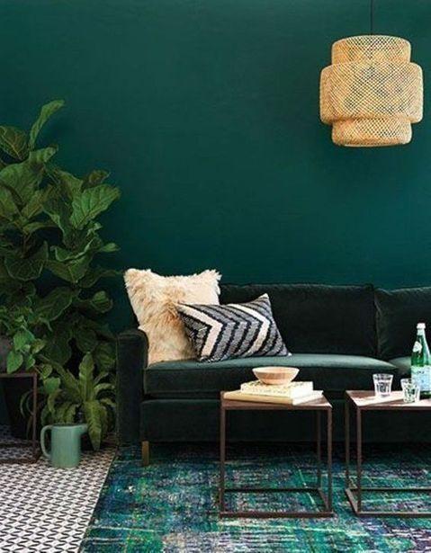 15 Salons Survegetalises A Copier Elle Decoration Couleur Mur Salon Couleur Peinture Salon Salon Vert