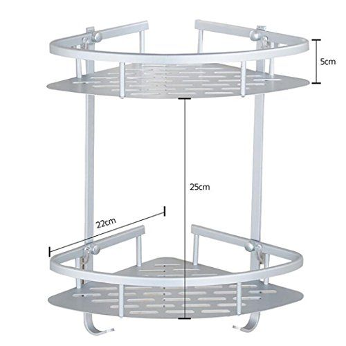 Easytoy Bathroom Shelf No Drilling Durable Aluminum 2 Tiers Shower Shelf Kitchen Storage Basket Adhesive With Images Kitchen Basket Storage Shower Shelves Corner Shelves