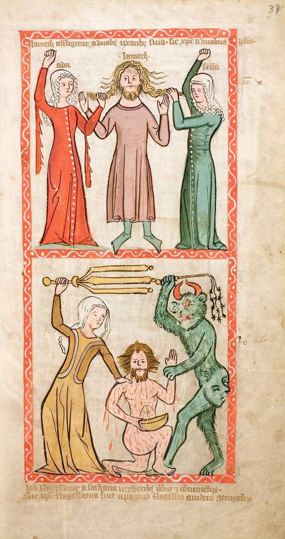 Speculum Humanae Salvationis, Westfalen oder Köln, um 1360. ULB Darmstadt, Hs 2505, fol. 37r