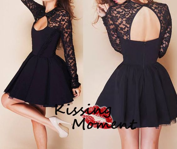 Unique Black Short Prom Dress 2014- New Arrival Princess Backless ...