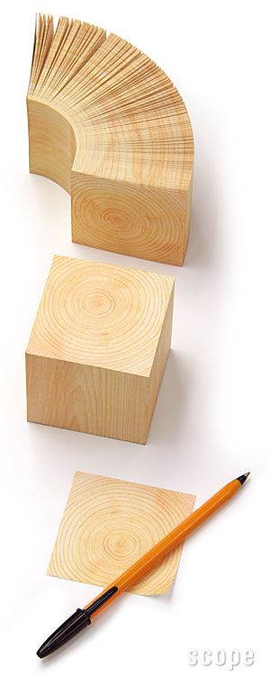 Hinoki Memo Cube: Perfect for notes, to-do lists, doodles, and more. #OfficeSupplies #WeWork / TechNews24h.com