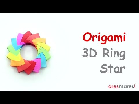 How to make Simple 3D Origami Paper Stars | 3d paper star, Paper ... | 360x480